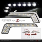 Universal Mercedes Style DRL SMDx8 LED Daytime Running Fog Lights