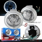 "Universal 3.2"" Halo Fog Lights Kit with Super White Bulbs"