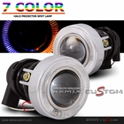 "Universal 3"" Spot Dock Lamp Halo Projector Fog Lights Kits -7 Colors"