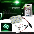 Interior Dome Light 12xSMD LED Green Univeal size