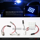 SMDx12 Blue LED 34mm x 23mm Interior Dome Light