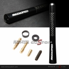 "Mazda  5"" Aluminum Screw-on Mazdaspeed Style Carbon / Black Car Antenna"