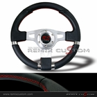 Classy 164 Style 320mm Red Stitches Steering Wheel
