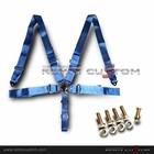 "Universal 5 Point Join Camlock 3"" Racing Seat Belt (Blue)"