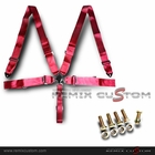 "Universal 5 Point Join Camlock 3"" Racing Seat Belt (Red)"