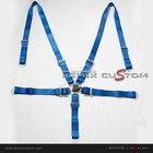 "Universal 5 Point Join Camlock 2"" Racing Seat Belt Blue"