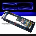 LED 3D Effect 280mm Flat Interior Rear View Mirror - Blue