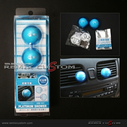 "Air Freshener Cue Ball Type Blue ""Platinum Shower"""