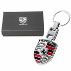 Porsche Style Key Chain Ring - Silver