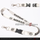 Nissan 20mm Keychain Neck Lanyard Gray