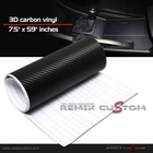 "Vinyl WRAP 3D Textured Carbon Fiber Sheet - 7.5""x59"""