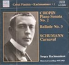 Sergei Rachmaninoff - Solo Piano Recordings, Vol. I          (Naxos 8.112020)