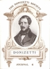 Donizetti Society Journal, Volume VI  (Alexander Weatherson)