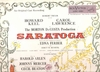 Saratoga   (Arlen)    (RCA Mono LOC-1051)   Original Broadway cast LP