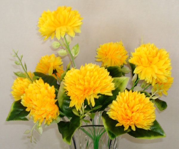 9 lilac yellow artificial silk flowers bouquet mightylinksfo