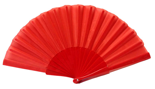Decorative Folding Silk Hand Fan Red 9 Quot