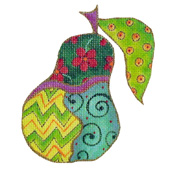 Whimsical Pear Needlepoint Canvas