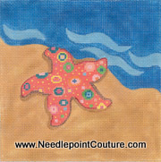 Starfish Needlepoint Canvas