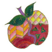 Whimsical Apple Needlepoint canvas
