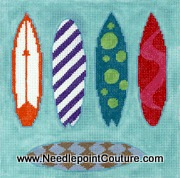 Surfboards Needlepoint Canvas