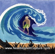 Surfer Boy Needlepoint Canvas
