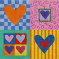 Hearts I Needlpeoint Canvas