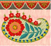 Bohemian Palmette Needlepoint Canvas