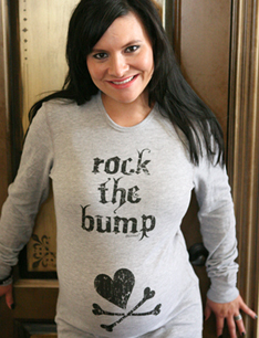 Rock the Bump Grey or Navy Thermal Maternity Shirt