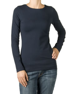 Crew Neck Maternity Tee in Navy