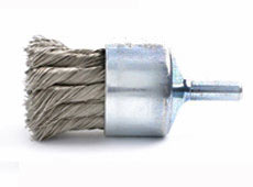 "1-1/8"" Knot Wire End Brush - .014"