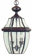 Quoizel NY1178AC Newbury 19 inches tall outdoor hanging lamp in aged copper