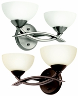 Kichler 45162 Bellamy 2 Lamp 14 Inch Wide Contemporary Bathroom Wall Sconce