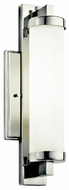 Kichler 10481PC Jervis Chrome Modern Cylinder 14 Inch Tall Wall Sconce Light