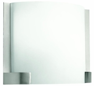 Kichler 10620NI Nobu Brushed Nickel White Diffuser Modern Nickel Sconce Lighting
