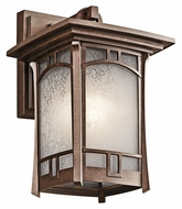 Kichler 49450AGZ Soria 11 Inch Tall Medium Craftsman Aged Bronze Finish Exterior Sconce Lighting