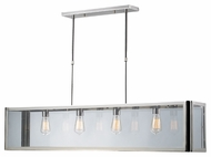ELK 31213/4 Parameters-Nickel Square 47 Inch Wide Kitchen Island Lighting - Polished Chrome