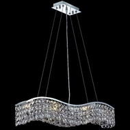 Elegant 2041D30C-RC Contour Small Clear Crystal Island Lighting in Chrome