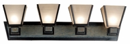 Kenroy Home 91604ORB Clean Slate 4-Lamp Mission Vanity Light