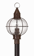 Hinkley 2201SZ Cape Cod 3 Light 23 Inch Outdoor Nautical Post Light in Sienna Bronze