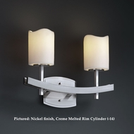 Justice Design CNDL-8592 Archway Transitional 2 Lamp Wall Moutned Bathroom Lighting - Candlearia Glass