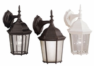 Kichler 9650 Madison Classic Lantern 13 Inch Tall Outdoor Wall Lamp - Bronze, Black And White