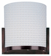 ET2 E95188-100OI Elements Modern White Weave 11 Inch Wide Wall Sconce Lighting - Oil Rubbed Bronze