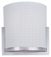 ET2 E95188-100SN Elements Satin Nickel White Weave 11 Inch Wide Wall Light Fixture
