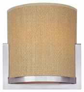 ET2 E95188-101SN Elements Modern Satin Nickel Finish Grass Cloth Lighting Sconce - 11 Inches Wide
