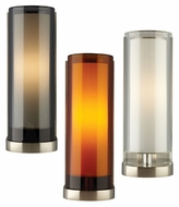 Tech Sara Contemporary 10 Inch Tall Glass Cylinder Wall Light Sconce