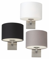 Tech Chelsea Transitional 9 Inch Tall Fabric Wall Lighting Fixture