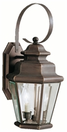 Kichler 9676OZ Savannah Estates Traditional Olde Bronze 19 Inch Tall Outdoor Wall Lamp