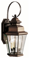 Kichler 9677OZ Savannah Estates Classic 24 Inch Tall 3 Candle Bronze Lantern Outdoor Sconce