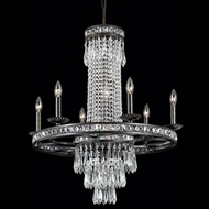 Crystorama 5266-EB-CL-MWP Mercer 27 inch crystal chandelier in English bronze finish