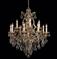 Crystorama 4413 Maria Theresa 28 inch crystal chandelier in antique brass finish